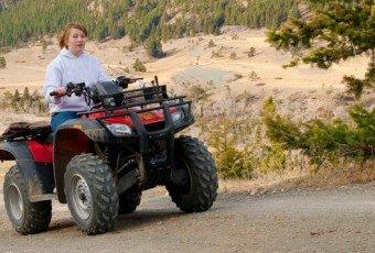 Women on an ATV